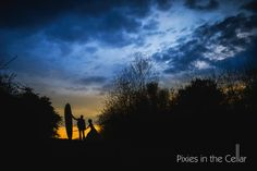 Sunset silhouettes - for a surfing crazy wedding couple