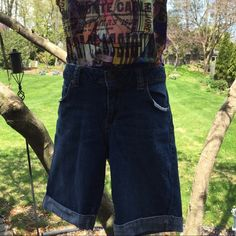 Denim/Jean Cuffed Shorts Nice, clean condition! 99%cotton 1%spandex Faded Glory Jeans