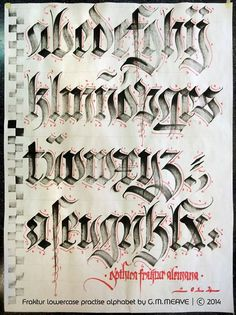 Lettering – handwritten alphabet – calligraphy directional i… – Graffiti World Tattoo Lettering Styles, Chicano Lettering, Graffiti Lettering Fonts, Graffiti Tattoo, Hand Lettering Fonts, Creative Lettering, Lettering Design, Lettering Ideas, Monogram Fonts