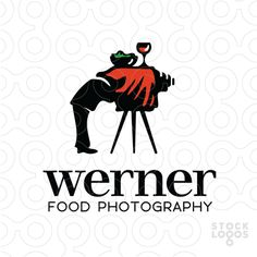 A vintage old time photographer resembles a dinner table in this rare and unique logo for a food photographer. Inspirations come from antique and old photography equipment, camera design, food, cuisine, restaurant, art and more.