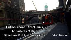Out of Service S Stock train at Barbican - video dailymotion Barbican, London Underground, Trains, Transportation, Tube, Videos, Train