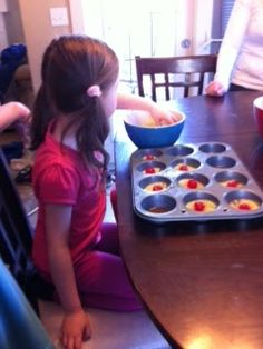 pineapple  upside down cake for our luau party #momstownpass #juniorchef