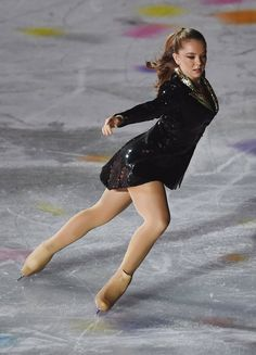 "Princess Alexandra of Hannover performs her figure skating skills at the ""Intimissi Opera on Ice"" in Verona Italy."