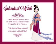 Young Women Value Disney Princess Posters | Individual Worth: Mulan