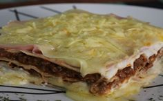 Receita de lasanha de carne com farinha de glúten para a fase cruzeiro PL dukan.