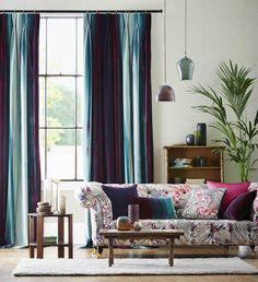 Beautiful living room display from our Amazilia range of fabrics.