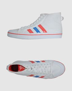 Adidas red, white, and blue sneaks