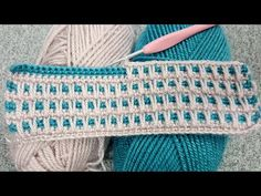 Crochet Two-Color Baby Blanket Pattern & Knitting Patterns – Hakeln Crochet Stitches For Blankets, Crochet Stitches Patterns, Baby Blanket Crochet, Knitting Patterns, Afghan Patterns, Stitch Patterns, Crochet Simple, Crochet Videos, Knit Crochet
