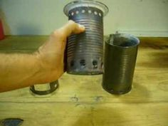 A great Youtube walk through of a number of homemade tin can wood-gas stoves