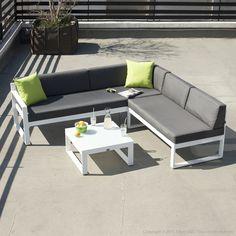 La table à manger et 6 fauteuils de jardin PALMAS en résine ...