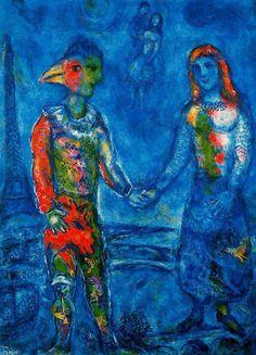 """Chagall, Pintor De Sonhos... """"Céu De Paris"""",1973:"""
