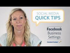 Social Media Quick Tips: Facebook Business Settings [Video]  A quick tip for Facebook Pages that could give you higher number of reaches and also connect your page to other sites on the internet plus gives the user the ability to rate your business. Have you checked your settings lately? Regards,  ~ Holley Jacobs #Facebook