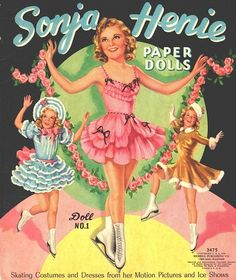 SONJA HENIE PAPER DOLLS UNCUT ORIGINAL MERRILL BOOK 1939 | eBay