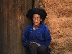 Old woman with traditional headgear, China | china © Eric La… | Flickr