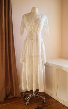 Antique Wedding Dress // Vintage Edwardian by xtabayvintage, $598.00