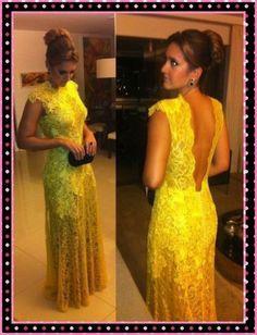 2014 New Lace Gold Evening Dress Wedding Dress Custom Size 6 8 10 12 14 16   eBay
