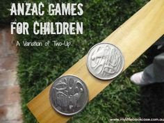 ANZAC games for children - leads into a lesson about probability with clear links to the Australian Curriculum Craft Activities For Kids, Games For Kids, Anzac Day For Kids, Celebration Day, World Thinking Day, Australian Curriculum, Australia Day, Remembrance Day, Early Childhood Education