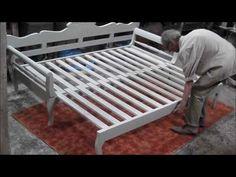 Νησιωτικός ξύλινος επεκτεινόμενος καναπές κρεβάτι Περικλής - YouTube
