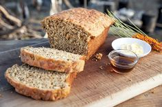 The roast wattleseed gives the bread a slight hazelnut flavour. We use a lot of native herbs and spices for the food we serve at our campfire dinners, including this damper. Self Saucing Pudding, Bread Tin, Sbs Food, Golden Syrup, All Vegetables, Pastry Cake, Great Desserts, How To Make Bread, Oven Baked