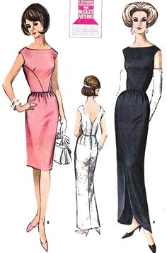 1960s Misses Fitted Cocktail Dress or Evening Gown