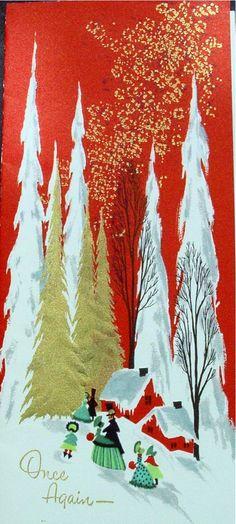 Among the pines.