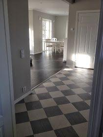 Rutigt golv i hallen!