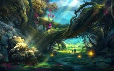beautiful paintings | Description: Beautiful Art and fantasy where two travelers are ...