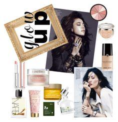 """Glow..."" by alejandra-zeledon on Polyvore featuring Belleza, Kiehl's, Soo Ae, Christian Dior, NARS Cosmetics, AERIN, Givenchy, Smashbox y Lancôme"