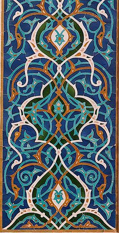 Detail of tilework, Jameh Mosque, Yazd Iran | Flickr - Photo Sharing!