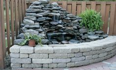 This could work indoors as a smaller version and I don't like the retaining wall look.