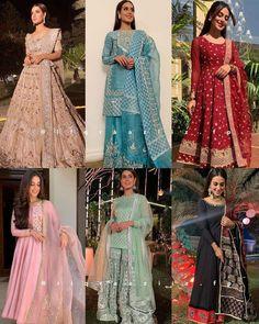 Beautiful Pakistani Dresses, Pakistani Dresses Casual, Indian Gowns Dresses, Pakistani Bridal Dresses, Indian Fashion Dresses, Dress Indian Style, Pakistani Dress Design, Indian Designer Outfits, Girls Fashion Clothes