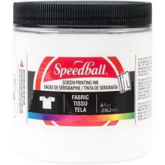 Fabric Screen Printing Ink 6 pot Starter Set Speedball Brand New