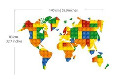 Lego World Map - wall-decals