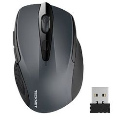 TeckNet Pro 2.4G Wireless Mouse,Nano Receiver,6 Buttons,24 Month Battery Life,2400 DPI 3 Adjustment Levels
