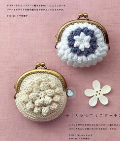 Irish lace, crochet, crochet patterns, clothing and decorations for the house, crocheted. Crochet Wallet, Crochet Coin Purse, Crochet Tote, Crochet Handbags, Crochet Purses, Love Crochet, Crochet Crafts, Crochet Yarn, Crochet Flowers