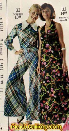pants suit, maxi dress #overkill #absurd 70s #fashion
