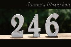 "5"" Wedding Table Numbers - 10 tables - Wooden, Wedding reception, Painted. $77.00, via Etsy."