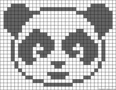 Baby Hats Knitting, Knitting Charts, Baby Knitting Patterns, Knitting Stitches, Needlepoint Stitches, Panda Craft, Fair Isle Chart, Modele Pixel Art, Pixel Pattern
