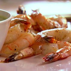 Roasted Shrimp Cocktail with Green Goddess Dressing Recipe : Ina Garten : Food Network - FoodNetwork Green Goddess Dip, Green Goddess Dressing, Fish Recipes, Seafood Recipes, Appetizer Recipes, Shrimp Appetizers, Chicken Recipes, Appetizer Ideas, Cocktail Recipes