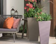 Bring simple, sleek style to your entryway or garden with the Crescent Garden Bowery Indoor/Outdoor Garden Planter . Plastic Planters, Tall Planters, Square Planters, Outdoor Planters, Garden Planters, Outdoor Gardens, Indoor Outdoor, Outdoor Decor, Outdoor Living
