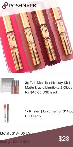 Gorg color only! From the koko kollection Brand new! Listing is for color Gorg only, the maroon Ish color one. Authentic! Receipt in pics. Koko kollection will never be restocked, don't miss out !!------no trades. Kylie Cosmetics Makeup Lipstick