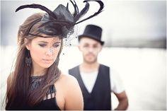 absolutely super stunning Tim Burton inspired couple shoot