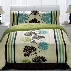 The Miramar Lime 4 Piece Comforter Set features a soft luxurious tw...