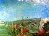 Seine Bridge at Asnieres, 1887. Honestly, I didn't think Van Gogh did so many paintings since he only sold one in his lifetime. Alas, I have taken on an impossible task. Scroll to the bottom for the very real point.