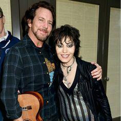 Eddie Vedder and Joan Jett (Teen Cancer America)