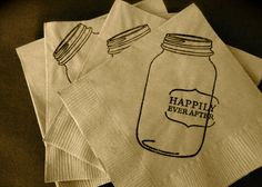 Save on wedding napkins by getting misprinted stock!