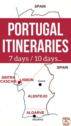 Pin Map Portugal Itinerary Map - Roadtrip Portugal Travel