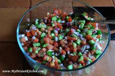 Persian Salad (Salad Shirazi) - I LOVE this salad and I will make it very soon.  #food #recipe