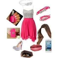 Group of: Pink sparkly prom - Polyvore | We Heart It