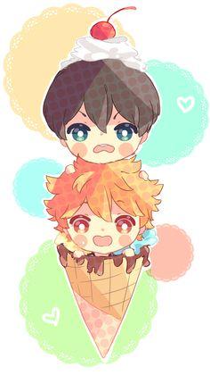 Kageyama and Hinata // Haikyuu!